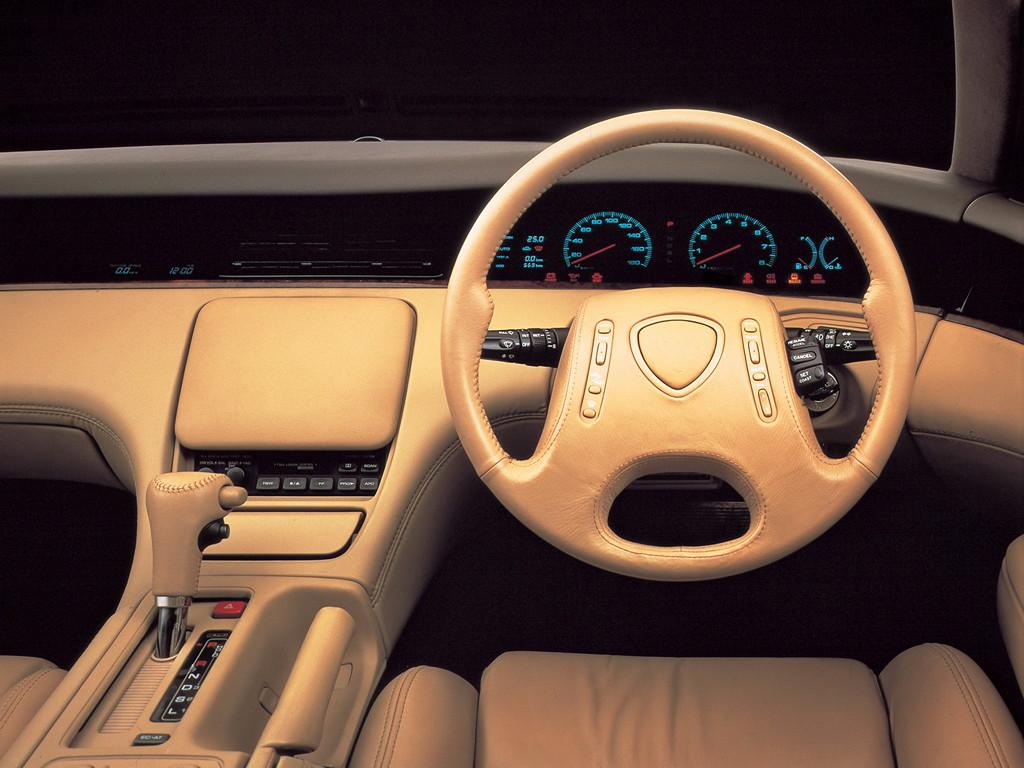 Mazda Eunos Cosmo, 3-rotor, wankel, wnętrze, eleganckie, luksusowe, zdjęcia