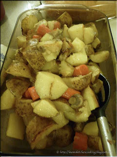 roasted vegetables from the pot roast