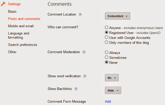 Blogger Blog Comment Option Image