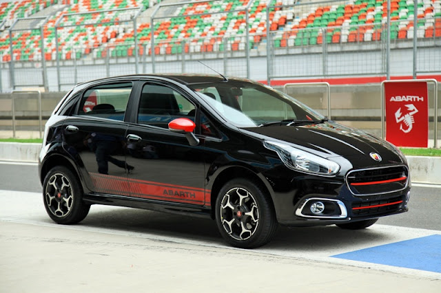 Abarth Punto FCA India Black Red