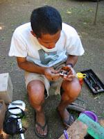 Marlon making engagement rings 2003, Naturaleza Organic Jewelry