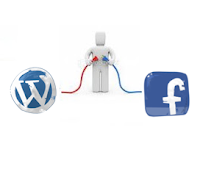 connect facebook and wordpress logo