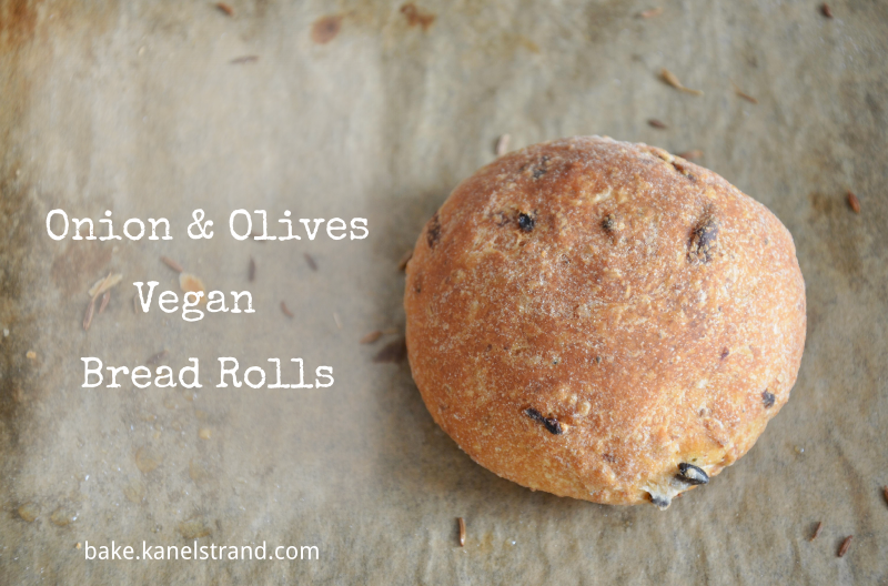 Onion and Olives Vegan Bread Rolls