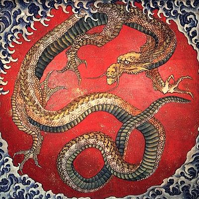 hokusai katsushika dragon