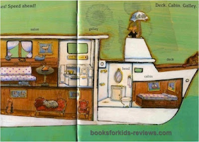 GoodBooksforKids excerpt #2 from BOATS!  Speeding!  Sailing!  Cruising!  by Patricia Hubbell