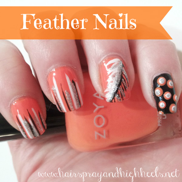 DIY Feather Nails
