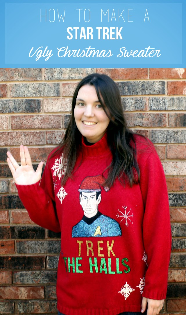 Star Trek Ugly Christmas Sweater | Christmas Sweater Ideas You Can DIY On A Budget | diy christmas tree sweater
