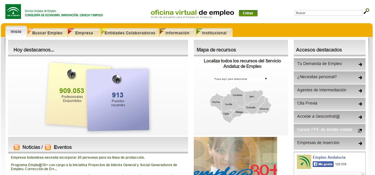 Gu a para crear tu curriculum vitae en la oficina virtual for Oficina virtual empleo canarias