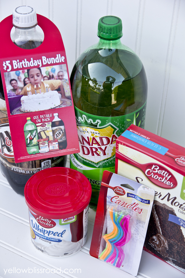 The Idea For Mini Party Came To Me When I Saw This Birthday Bundle At Vons Just 5 Got A Box Of Cake Mix Frosting Candles And Two 2 Liter