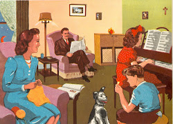 The Family in the living room