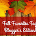 Fall Favorites Tag (Blog Edition) ♥
