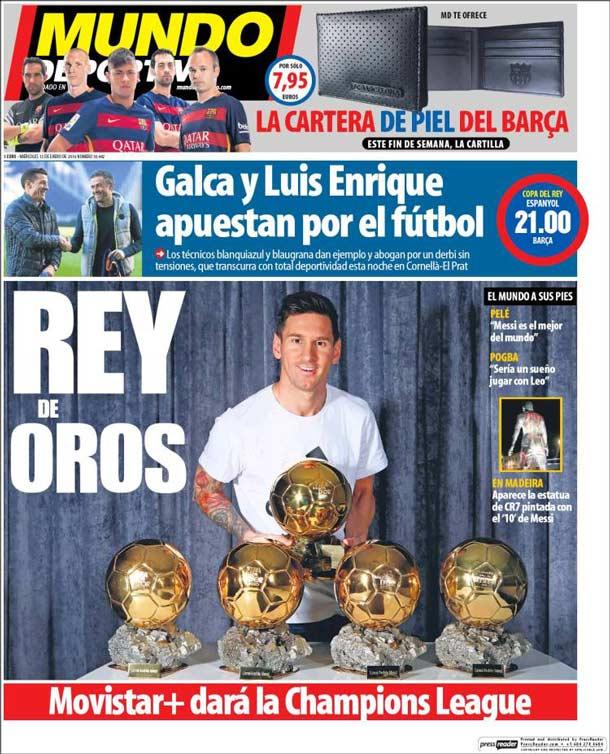 Portada del periódico Mundo Deportivo, miércoles 13 de enero de 2016