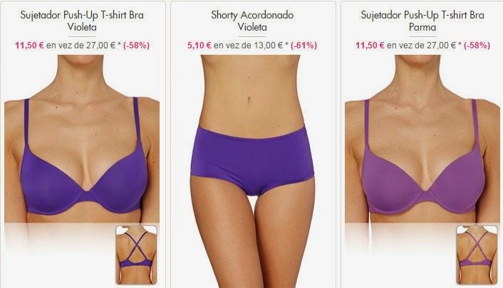 Conjunto de lencería color violeta