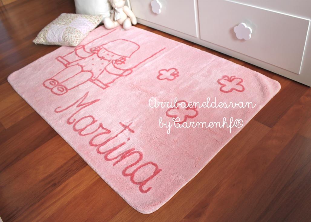 Alfombras infantiles personalizadas con nombre - Alfombras habitacion bebe ...