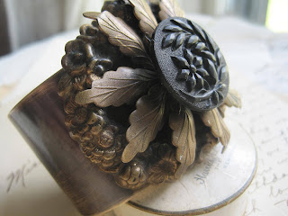 victorian, button, black, sacredcake, cuff