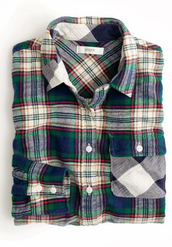 Plaid jcrew warm shirt for fall fashion trend