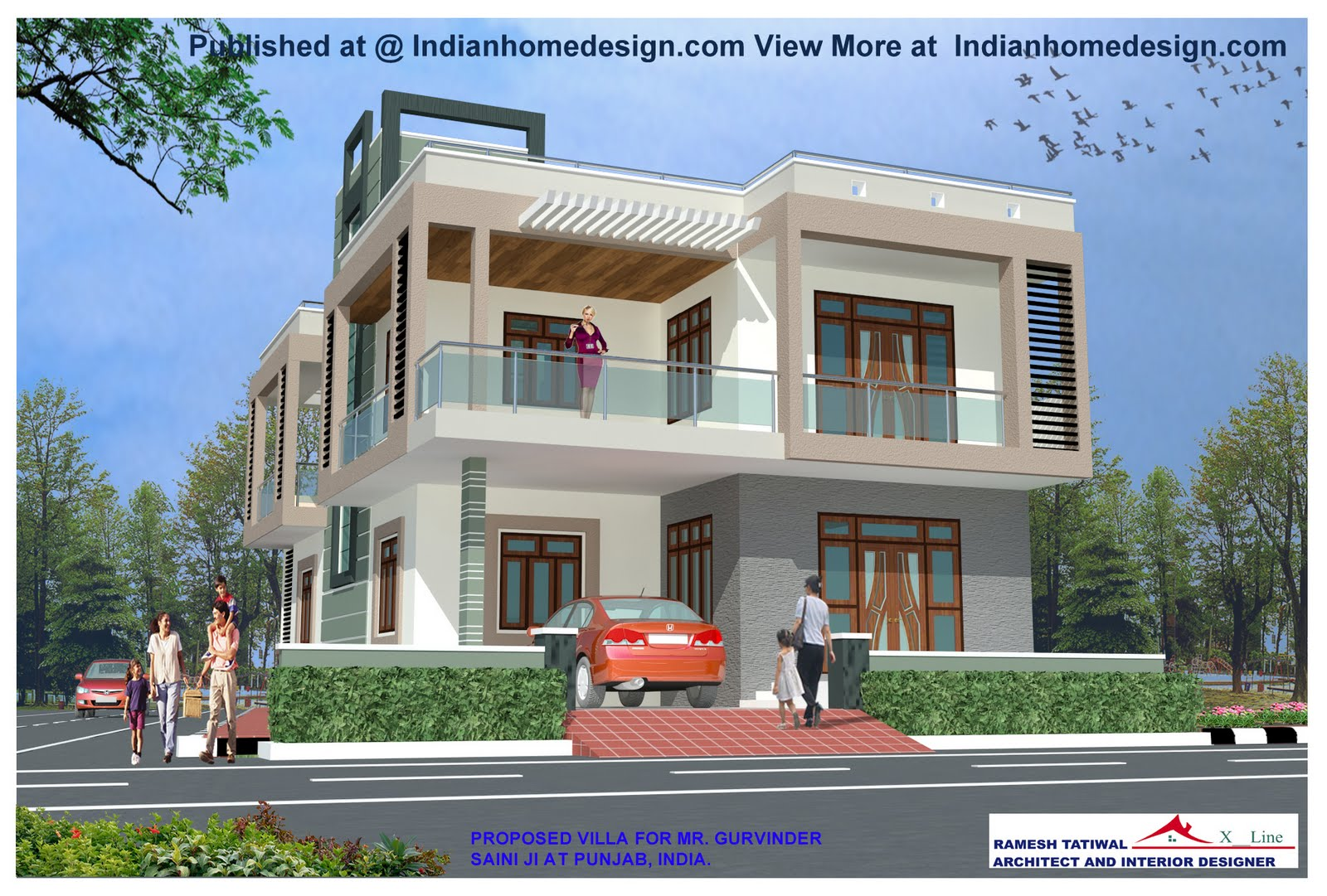 House Front View Designs Pictures   Best Design House Front Look