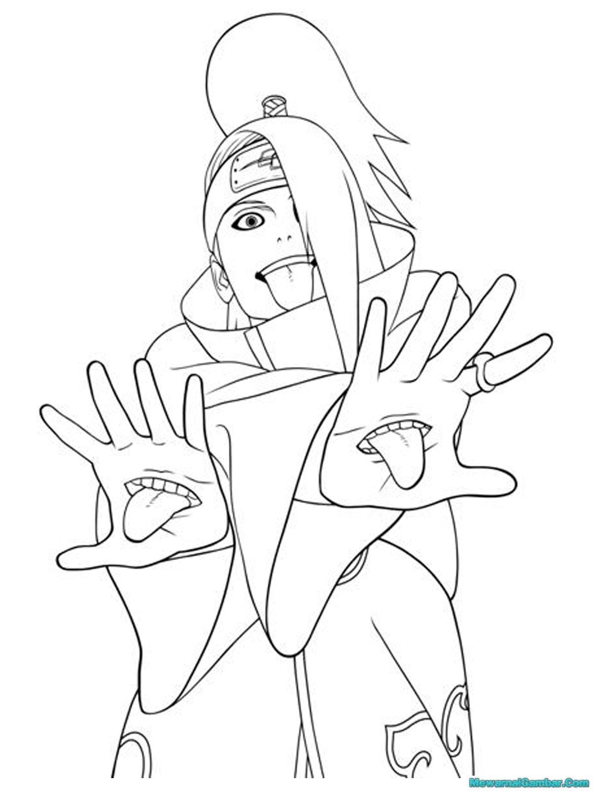 Mewarnai Naruto Dan Sasuke Mewarnai J