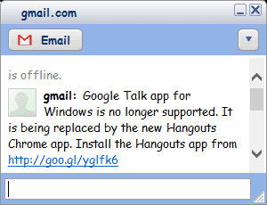 Google Talk Chat Box