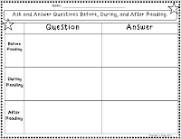 Free Ask and Answer Recording Sheets