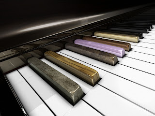 3D Piano wallpaper