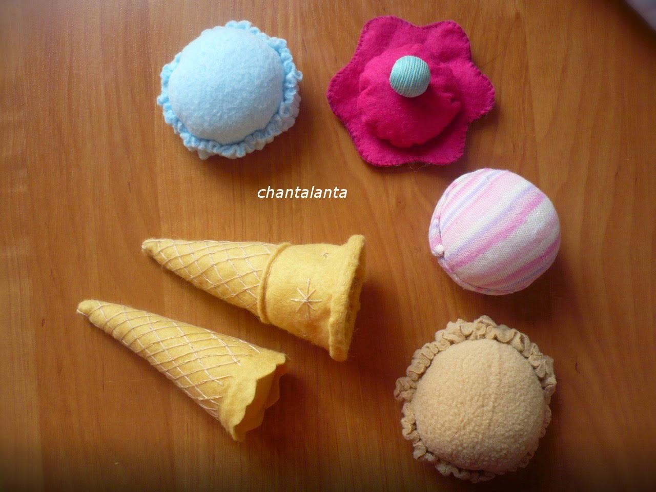 Как сделать мороженое из ткани