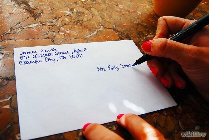 where to write to address on envelope in usa