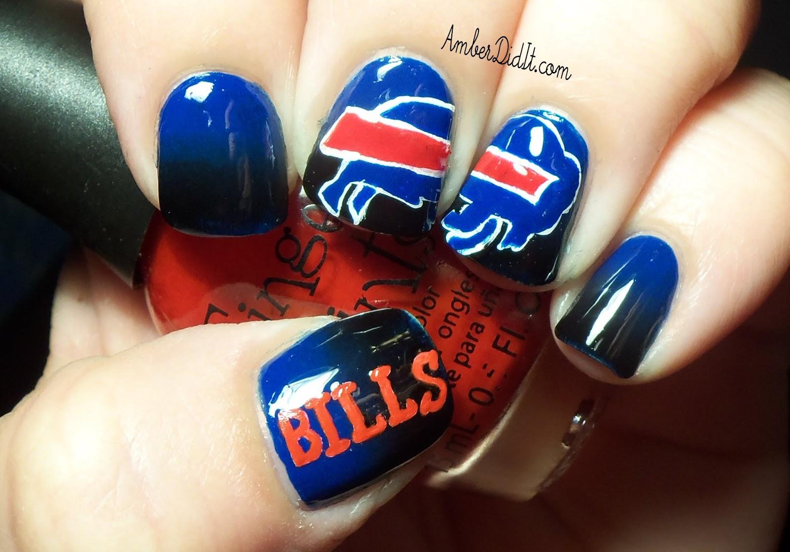 Amber did it!: NFL Series #13~ Buffalo Bills Nails