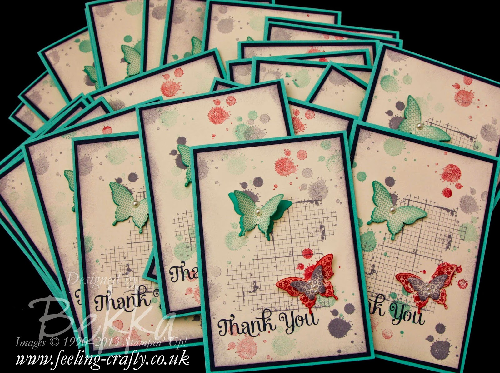 Butterfly Thank You Card made with Stampin' Up! Supplies which you can get here