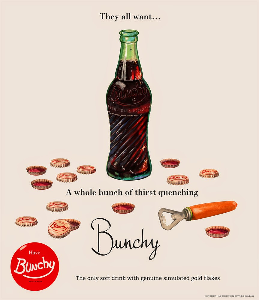 Bunchy ad - The all want… - retro advertisement - design and illustration by Cesare Asaro - Curio & Co. - Curio and Co. OG - www.curioandco.com