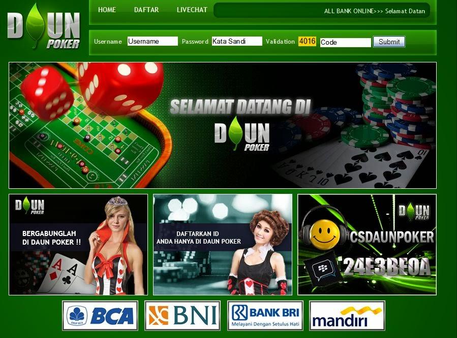DaunPKR.com Agen Poker Domino Online Terbaik Terbesar Dan Terpercaya