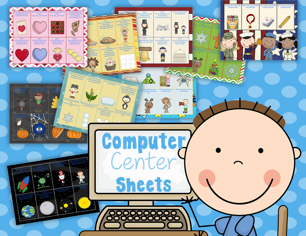 http://www.teacherspayteachers.com/Product/Computer-Center-Sheets-1066694