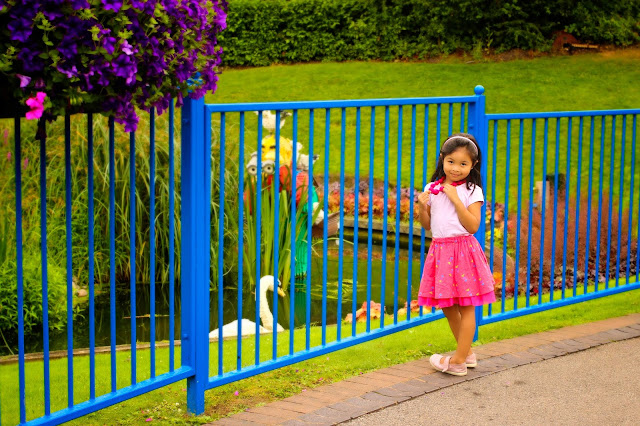 Admiring the Lego swans at Legoland Windsor | Chichi Mary Boutique