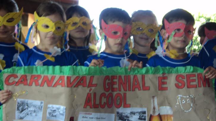 Carnaval genial é sem álcool