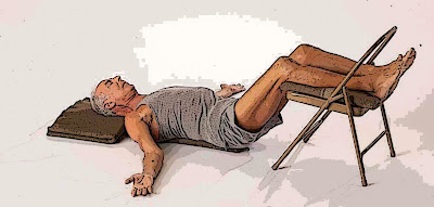 Savasana with Chair Support