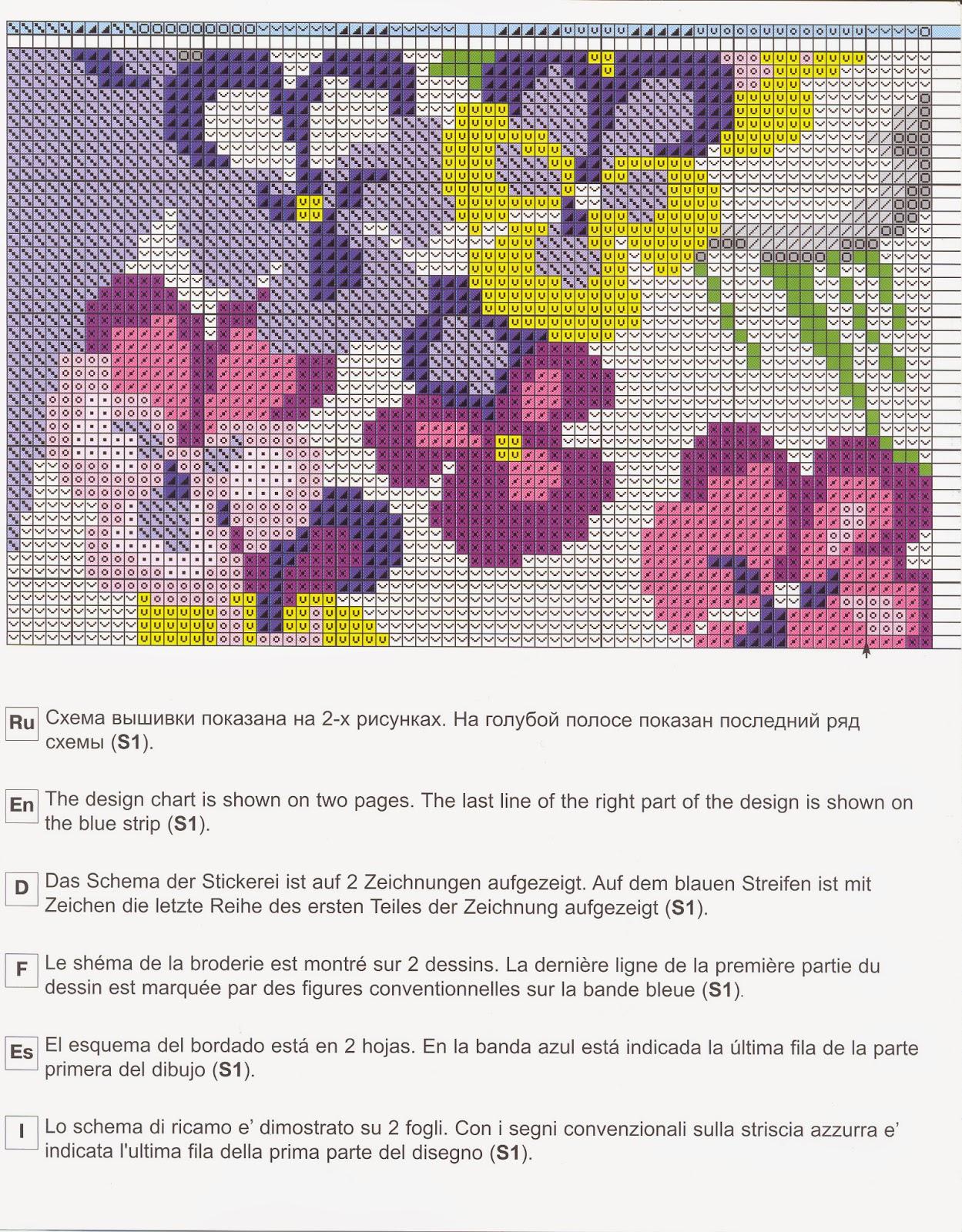 Схемы для вышивки крестом на подушки