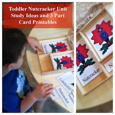 3 part montessori cards Nutcracker toddler study
