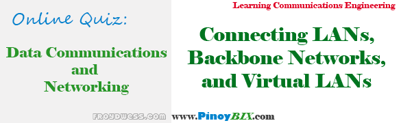 Practice Quiz in Connecting LANs, Backbone Networks, and Virtual LANs