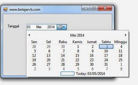 Penggunaan DateTimePicker VB Pada .Net