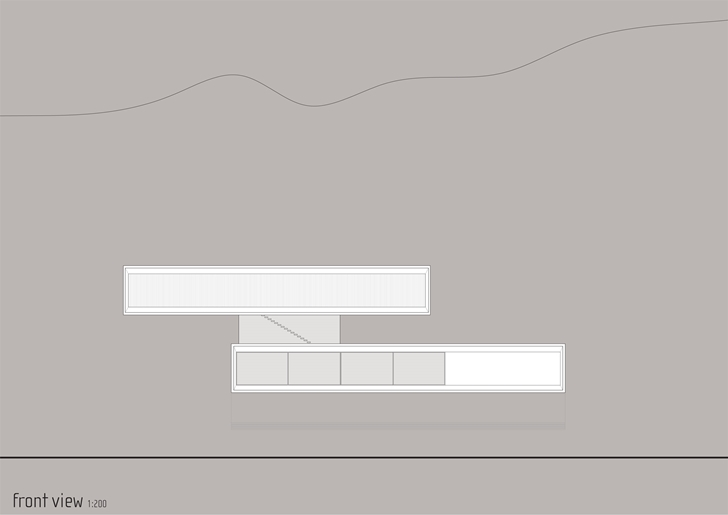 Front view of Modern beach house in Brazil by Marcio Kogan