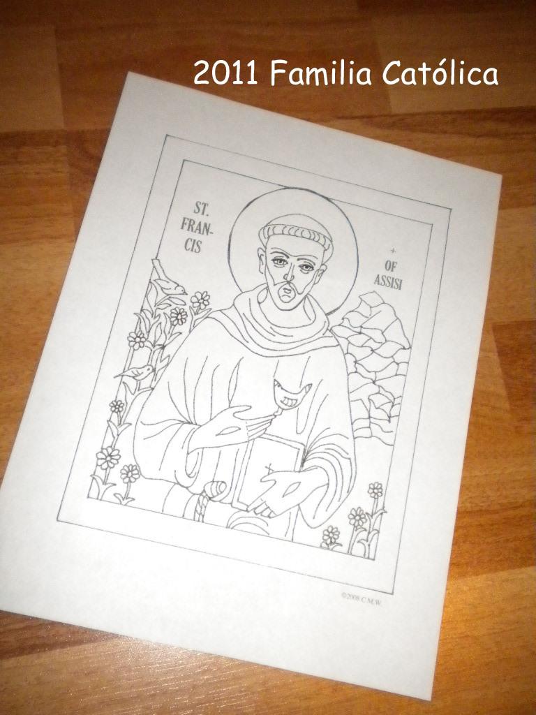 Familia Católica: Octubre: Páginas para colorear para las ...