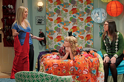 Penny's Anthropologie Kumala Rose Bedding The Big Bang Theory