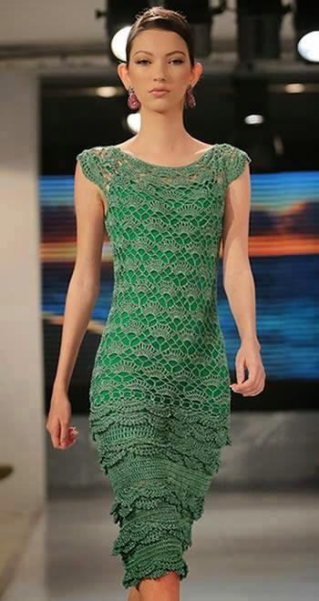 外网钩针连衣裙(328) - 柳芯飘雪 - 柳芯飘雪的博客
