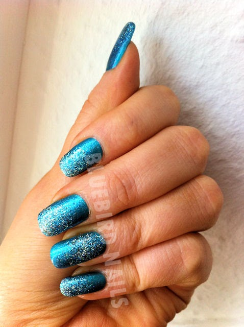 glitter mani with Orly and China Glaze