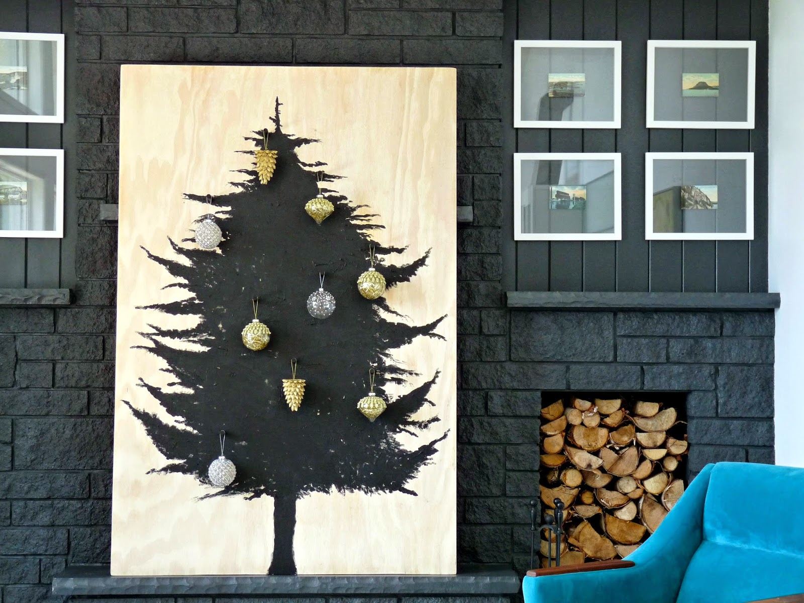 Scandinavian inspired holiday decor