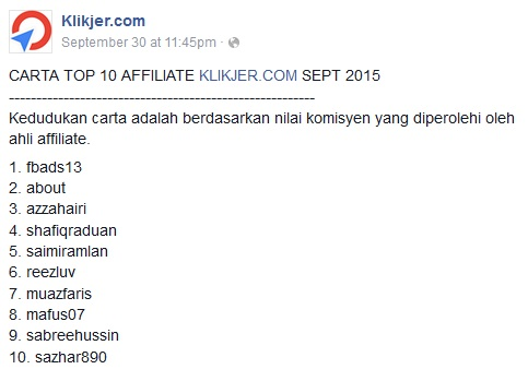 azzahairi top affiliate klikjer