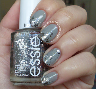 Glitter Gradient with Essie Set in Stones