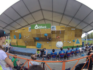 vail, teva mountain games, Hans Busker, bouldering, climbing, volumes, worldcup