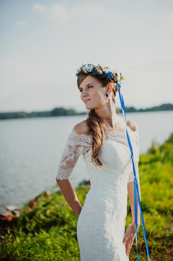 Chabrowe dodatki ślubne wianek