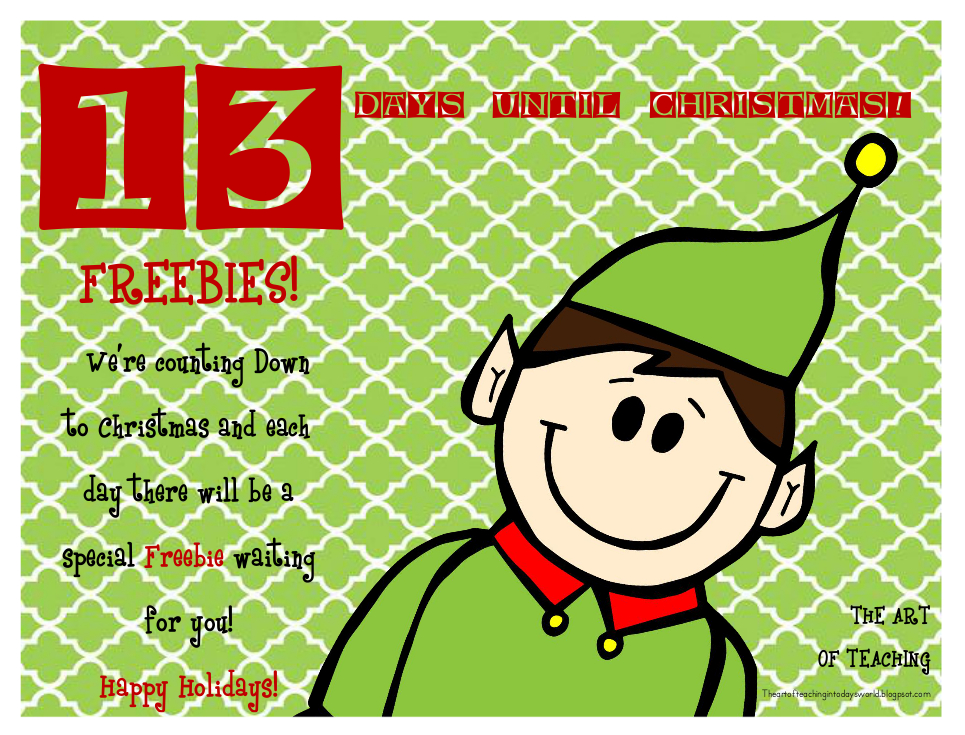 The Art of Teaching in Today's World: Countdown to Christmas...18 ...